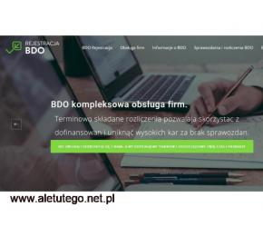 Zakładanie jednostki gospodarczej oraz rejestracja BDO poprzez Internet